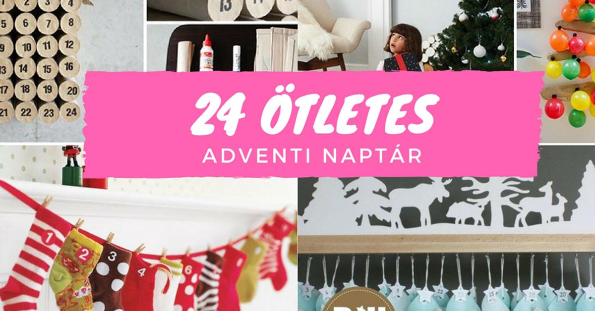 24 ötletes adventi naptár