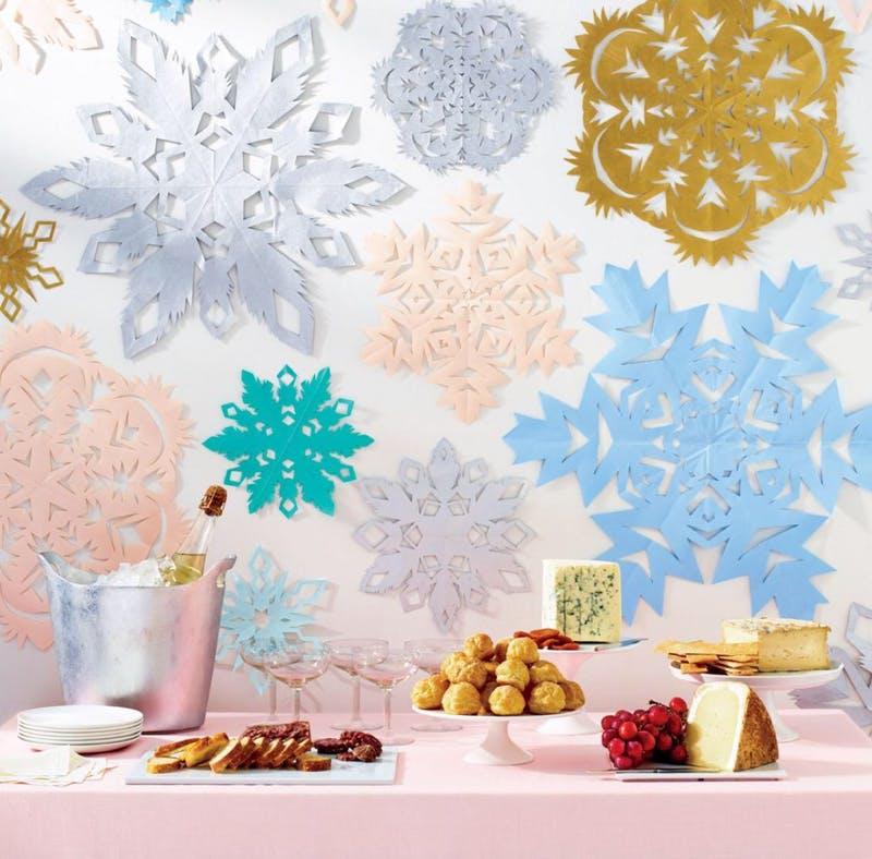 Sablonok és minták papír hópehelyhez