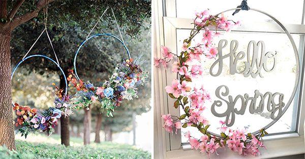 Hullahopp koszorúk - Tavaszi dekoráció