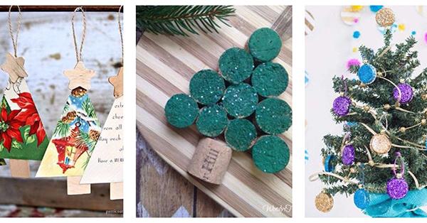 25 újrahasznosított karácsonyfadísz gyerekekkel