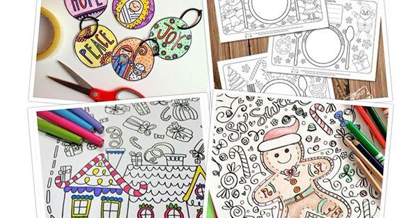10+ különleges kreatív karácsonyi színező gyerekeknek
