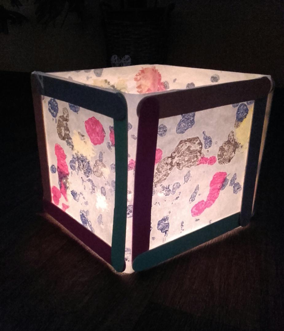Kerti lámpás sütőpapírból