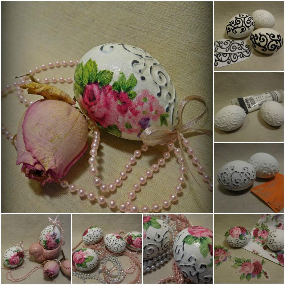 Romantikus húsvéti tojások
